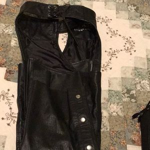 Leather s chaps... leather king brand size m